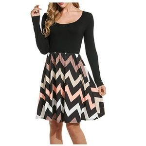Dresses & Skirts - Short dress with long sleeves NWOT